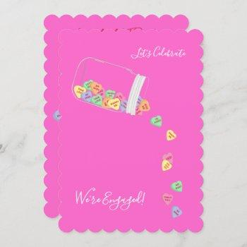 bride & co candy hearts engagement party shower invitation