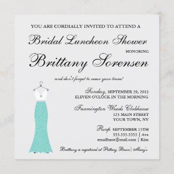 bride & co here comes the bride shower party invitation
