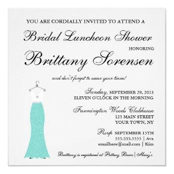 bride & co here comes the bride shower party invitation