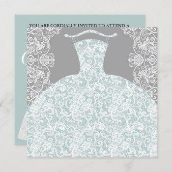 bride co something blue here comes the bride party invitation