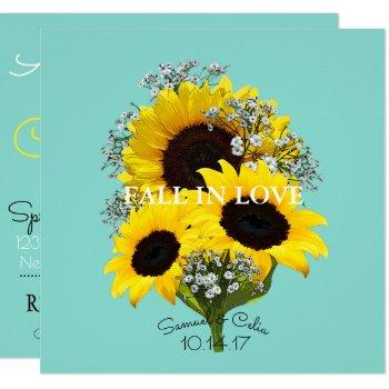 bride & co sunflower autumn bridal shower invitation