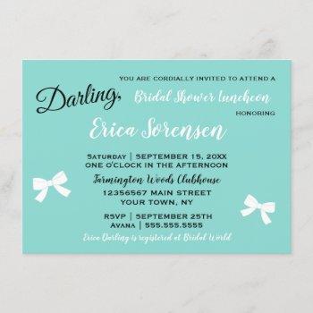 bride & family little black dress tiara party invitation