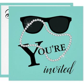 bride glam celebrate diamond tiara party shower invitation