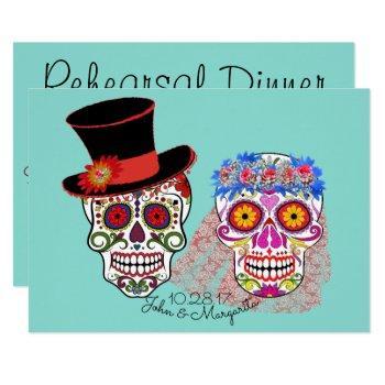 bride & groom til death do us party invitation