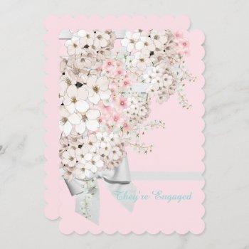 bride pink floral lattice bridal shower party invitation