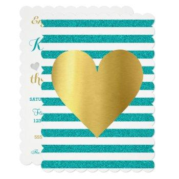bride summer lovin teal blue soiree lawn party invitation