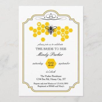 bride to bee bridal shower invitation