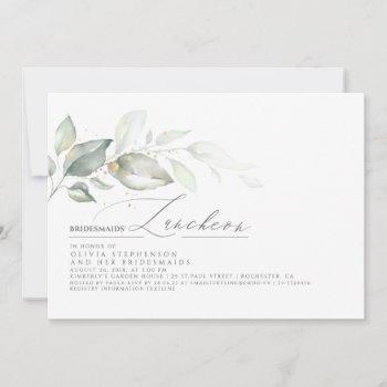 bridesmaids luncheon dreamy greenery bridal shower invitation
