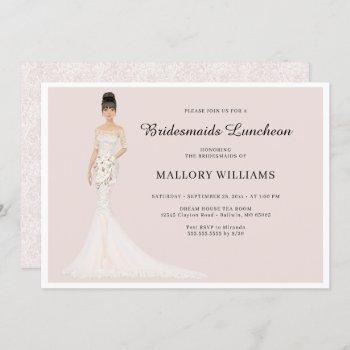 bridesmaids luncheon fashion bride invitation
