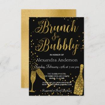 brunch and bubbly champagne glasses invitation