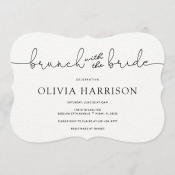 brunch with the bride shower invitation