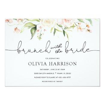 Brunch With The Bride Shower Invitation Front View