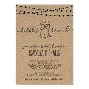 bubble & brunch bridal shower invitation