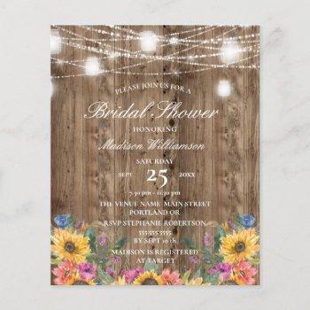budget barn wood  & sunflower bridal shower
