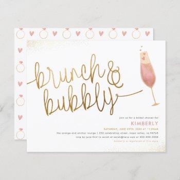 budget brunch & bubbly champagne bridal shower