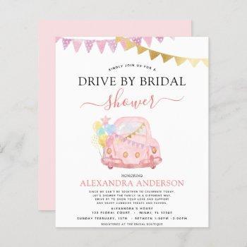 budget drive by bridal shower blush pink