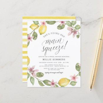budget main squeeze lemon wreath bridal shower
