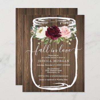 budget rustic mason jar bridal shower invitation