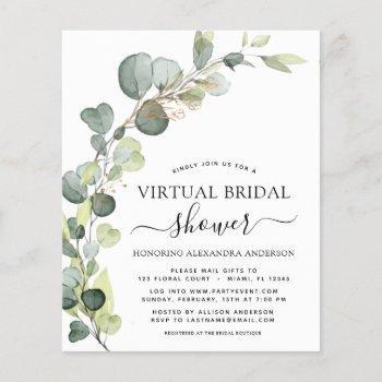 budget virtual bridal shower greenery eucalyptus