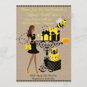 bumble bee cocktail keep calm bridal shower invite