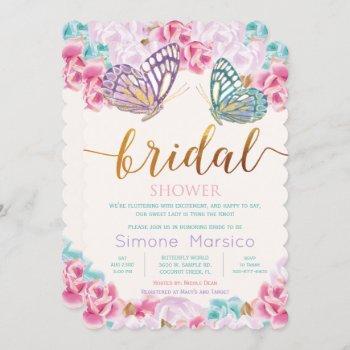 butterfly bridal shower invitation