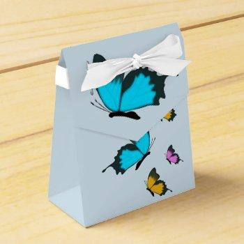 butterfly summer floral favor box