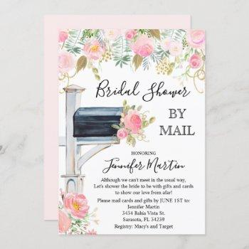 by mail bridal shower invitation