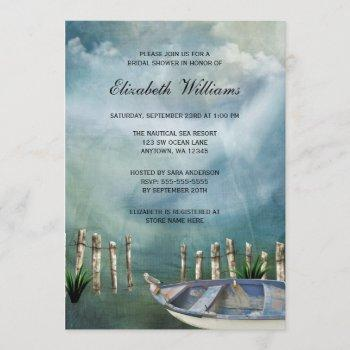 by the sea nautical bridal shower invitation