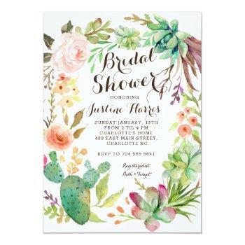 cactus, bridal shower invitation succulents,