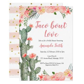 cactus floral taco bout love bridal shower invitation