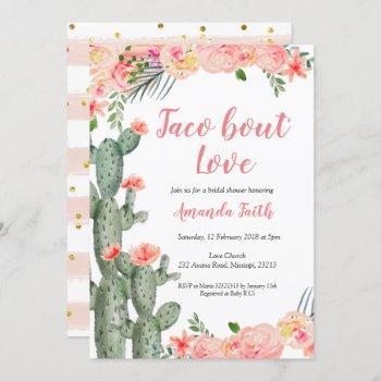 cactus floral taco bout love bridal shower invitation