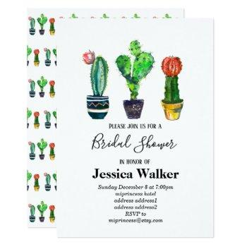 cactus, succulent, watercolor, fiesta, mexican, invitation