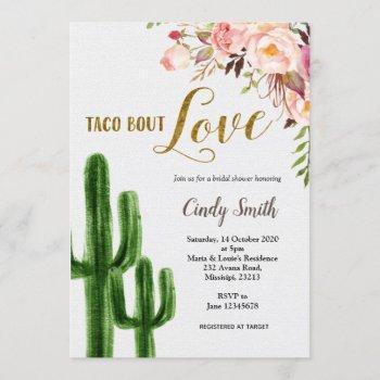 cactus taco bout love bridal shower invitation