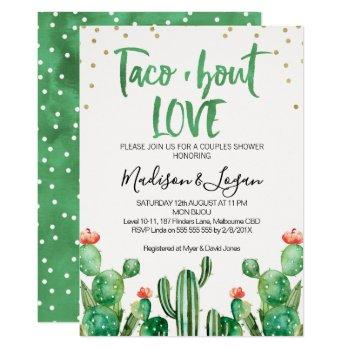 cactus taco ''bout love couples shower invitation