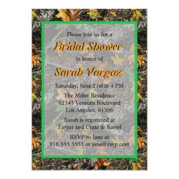 camo bridal shower invitations