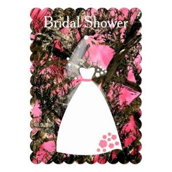camouflage bridal shower invitation