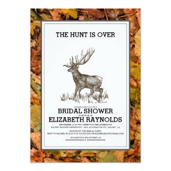 camouflage the hunt is over bridal shower invites