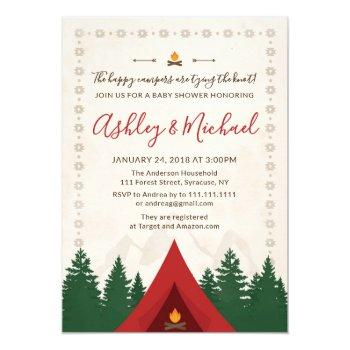 camping bridal shower invitation