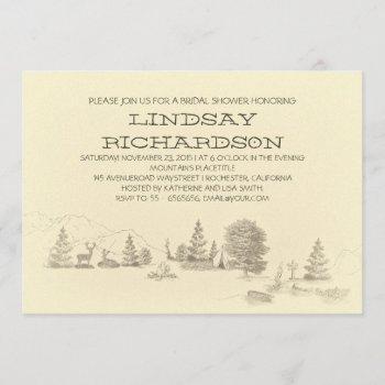 camping bridal shower invitation
