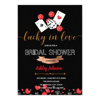 casino lucky in love party invitation