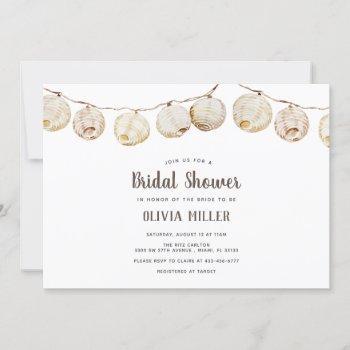 casual paper lanterns bridal shower invitation