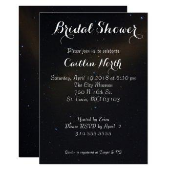 celestial dreams bridal shower invitation