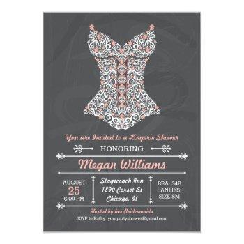 chalkboard lingerie party invitation