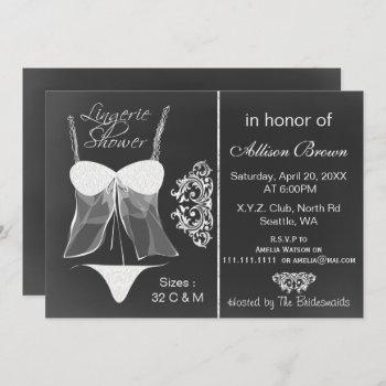 chalkboard lingerie shower  invitations