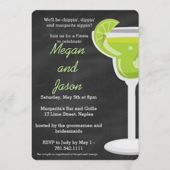 chalkboard margarita party invitation
