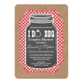 chalkboard mason jar burlap i do bbq invitation