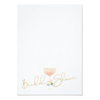 Champagne Brunch Bubbly Bridal Shower Invitation Front View