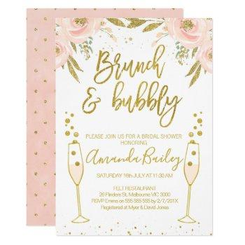 champagne glass brunch bridal shower invitation
