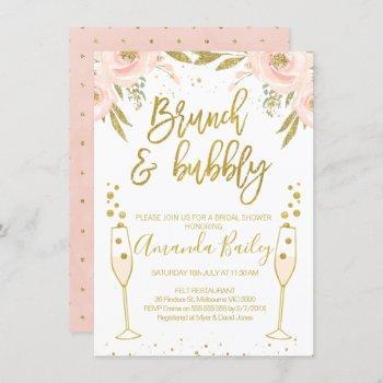 champagne glass brunch bridal shower invitation