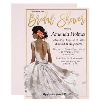 change color - fashion bridal shower invitation